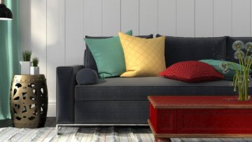 Tips How To Add A Color To A Monochromatic Interior.